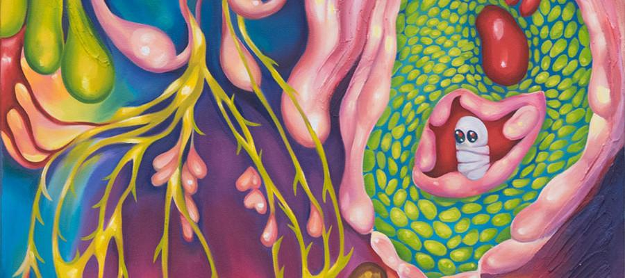 "Acid Rain, 24""w by 36""h, Oil on Canvas, 2015"