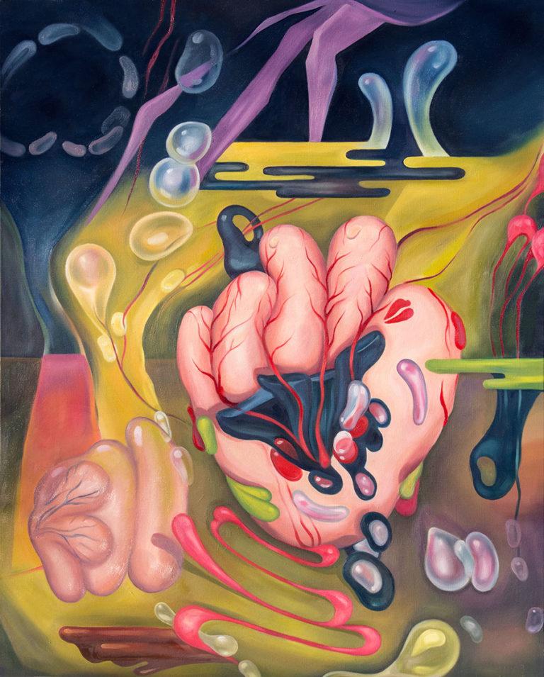 "Portend, 2017, 30x24"" Oil on Canvas"